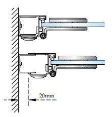 Доп. расстояние установки панелей и дверей