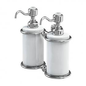 Керамический двойной дозатор Burlington A20 CHR для жидкого мыла