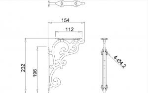 Кронштейн для бочка Burlington T32CHR схема