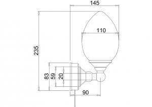 Светильник Burlington T52 для ванной комнаты схема