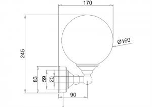 Светильник Burlington T50 для ванной комнаты схема