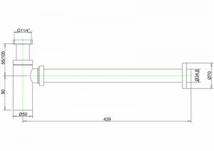 Сифон Burlington W13 для раковины схема