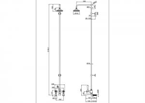 Настенная душевая система Burlington H295AN схема
