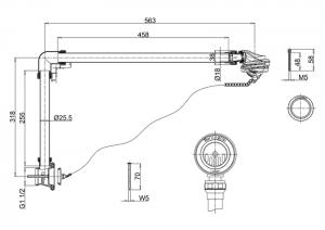Универсальный слив-перелив с пробкой и цепочкой Burlington W4/CW4/W5/CW5