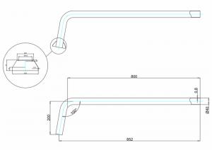 Соединительная труба Burlington W21 схема