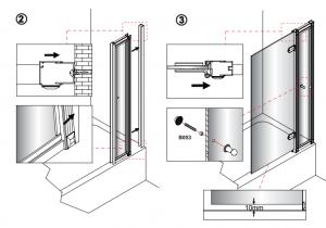 Шторка на ванну Burlington C10 с дверкой