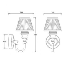 Светильник Burlington BL25 для ванной комнаты схема