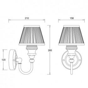 Светильник Burlington BL22 для ванной комнаты схема
