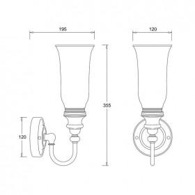 Светильник Burlington BL24 для ванной комнаты схема