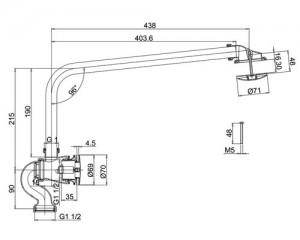 Cлив-перелив Burlington CW6/CW7 автоматический схема