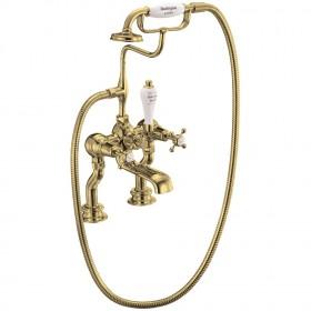 Набортный смеситель для ванны Burlington CLR15 GOL