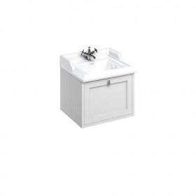 Тумба с раковиной подвесная с выдвижным ящиком Burlington FW1W цвет белый