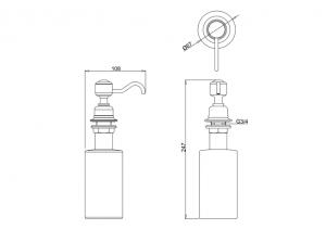 Дозатор для жидкого мыла встраиваемый Burlington A48 CHR схема