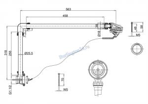 Универсальный слив-перелив с пробкой и цепочкой Burlington W4/CW4/W5/CW5GOL