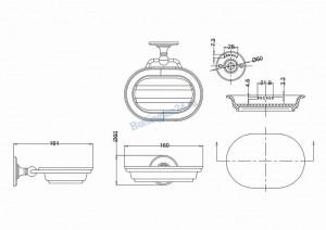 Керамическая мыльница Arcade ARCA1 CHR настенная схема