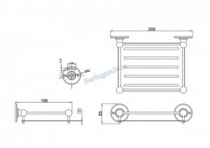 Настенная полка-решетка Arcade ARCA15 CHR схема