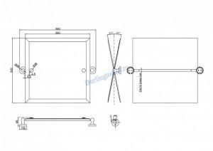 Квадратное зеркало Arcade поворотное ARCA39 CHR схема