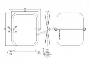 Зеркало Burlington A40 CHR поворотное схема