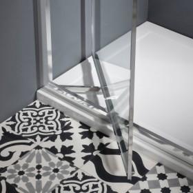 Душевой уголок Burlington Britton с распашной дверью и боковым экраном 90х90