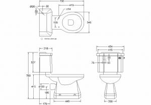 Унитаз-моноблок безободковый Burlington P20 C3 BLA схема