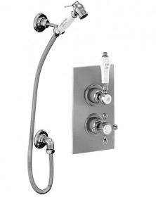 Гигиенический душ Burlington в комплекте со смесителем скрытого монтажа термостатическим