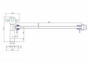 Вентиль Burlington W25 BLA с подводом воды для унитаза схема