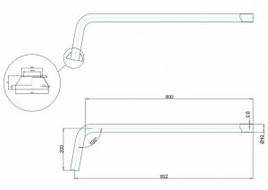 Соединительная труба сифона с горизонтальным отводом Burlington W21 GOL схема