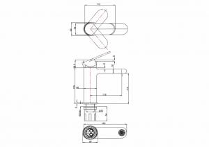 Смеситель однорычажный Burlington RCH30 без донного клапана схема