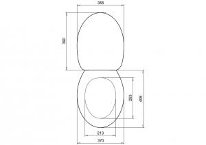 Сиденье с микролифтом для унитаза Burlington RS70 белое матовое схема