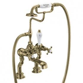 Набортный смеситель Burlington для ванны Regent CLR15 GOLD