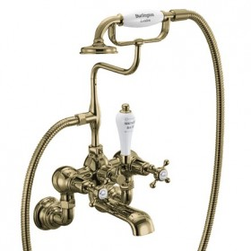 Настенный смеситель Burlington для ванны CLR17 S GOLD