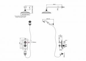 Встроенный термостат Burlington TF2S GOLD+V17 GOLD на два выпуска схема