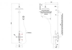 Внешний термостат Burlington BAF3S GOLD+V17 GOLD на два выпуска схема