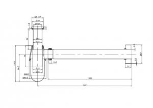 Сифон Burlington W14 GOLD для раковины схема