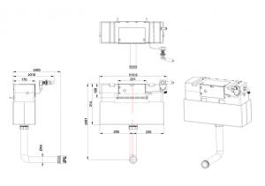 Бачок Burlington F6CC для скрытого монтажа в стену схема