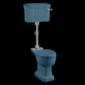 Унитаз с бачком среднего уровня Burlington P5 BLUE C1 BLUE T33 CHR
