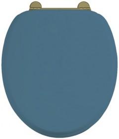 Сиденье с микролифтом для унитаза Burlington S56 BLUE GOLD синее матовое