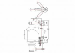 Смеситель Burlington для раковины CH22 схема